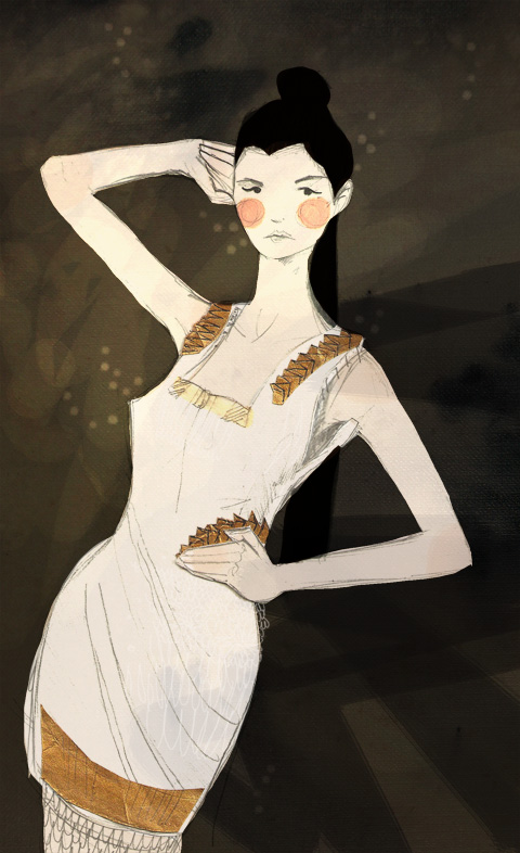 Jasper Garvida S/S '12 illustration by Amber Cassidy