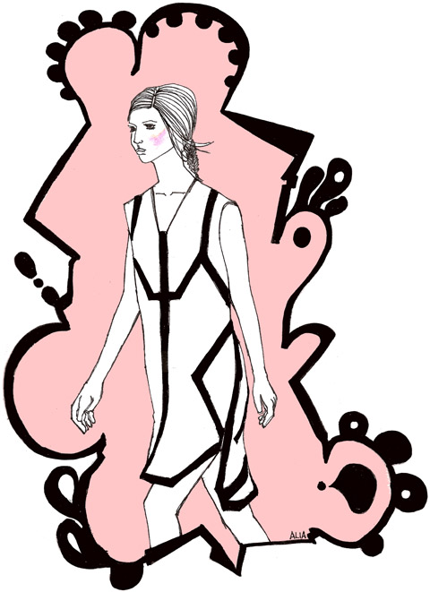 Jean-Pierre Braganza S/S '12 illustrated by Alia Gargum