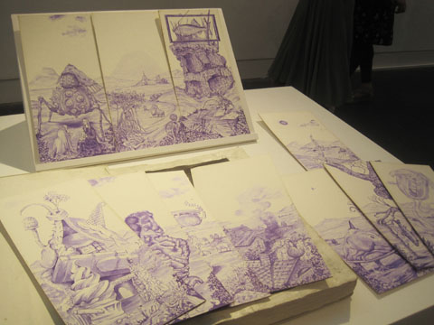 Jerwood Drawing Prize review 2011-Pattern of Faerie Tales by Iain Andrews