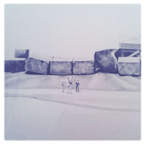 Jerwood Drawing Prize review 2011-The Cut (detail) by Jessie Brennan