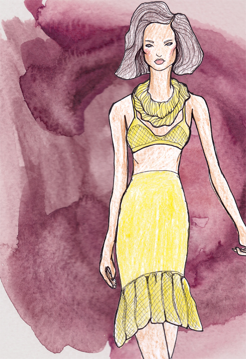 Mark Fast Spring/Summer 2012 illustrated by Gareth A Hopkins