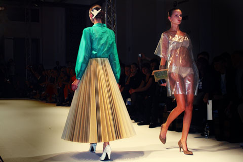 Anna Lidstrom Swedish School of Textiles S/S 2012 London Fashion Week by Akeela Bhattay