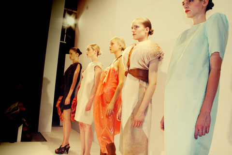 Laura Clausen - Swedish School of Textiles S/S 2012 London Fashion Week by Akeela Bhattay