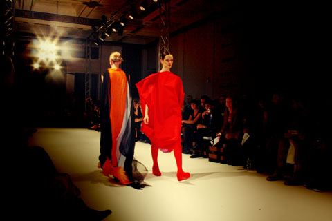 Salisa Phuwanawajik -  Swedish School of Textiles S/S 2012 London Fashion Week by Akeela Bhattay