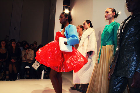 Anna Lidstrom - Swedish School of Textiles S/S 2012 London Fashion Week by Akeela Bhattay