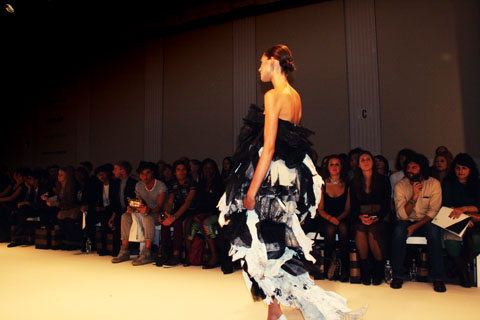 Sarah Torkelsson - Swedish School of Textiles S/S 2012 London Fashion Week by Akeela Bhattay