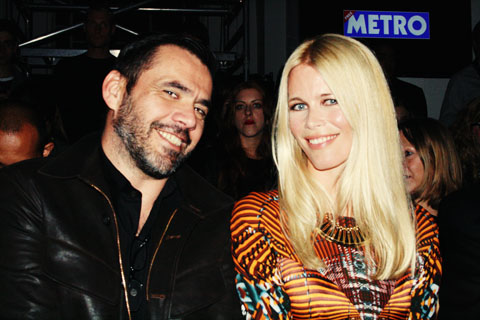 Claudia Schiffer & Roland Mouret Fashion Fringe London Fashion Week S/S 2012 by Akeela Bhattay