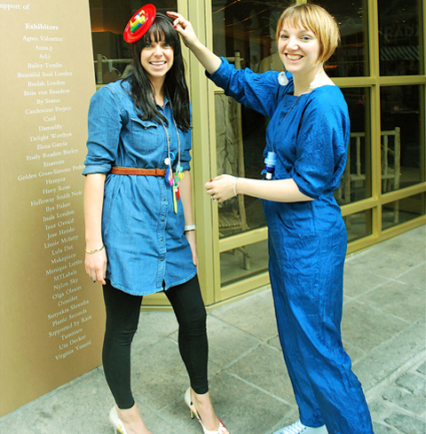 EcoLuxe London LFW SS12 Ethical Stylist Lucy Harvey and Hetty Rose