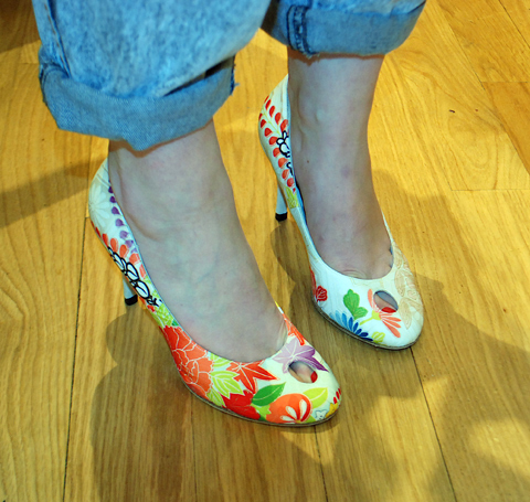 EcoLuxe London LFW SS12 Hetty Rose shoes worn by Alice Wilby