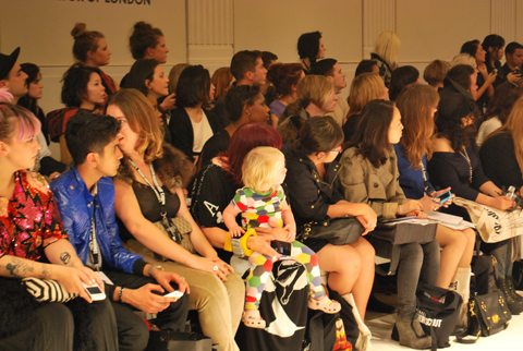 Leutton Postle LFW S/S12 show 'Baby Fashionista' photo by Maria Papadimitriou