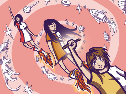 Shonen Knife by Sally Jane Thompson