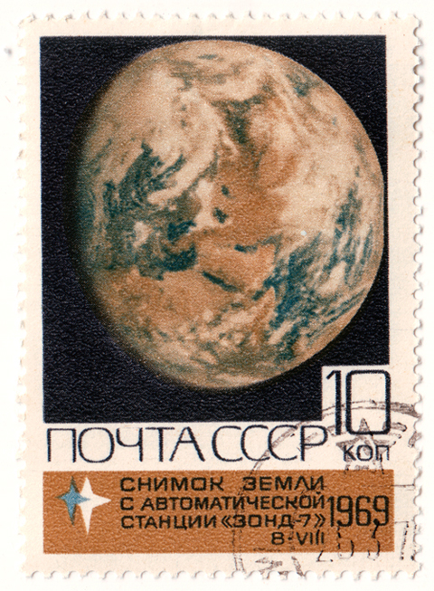 Soviet stamp vostok 5