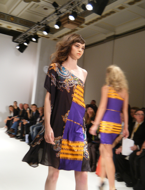 Carlotta Gherzi SS12 black orange and purple