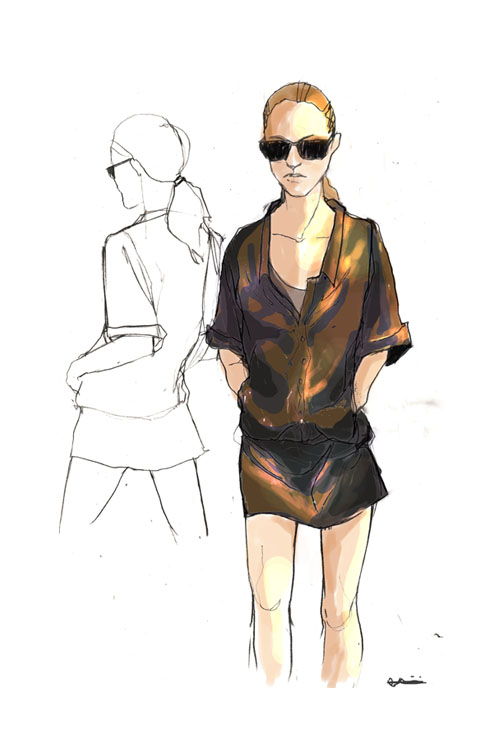 Christian Blanken S/S 2012 illustrated by Ada Jusic
