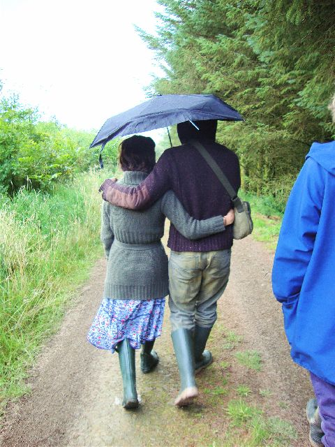 A couple of Lammas course attendees tour the land