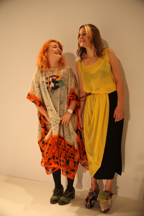 The designers Sam Leutton and Jenny Postle photo by Amelia Gregory