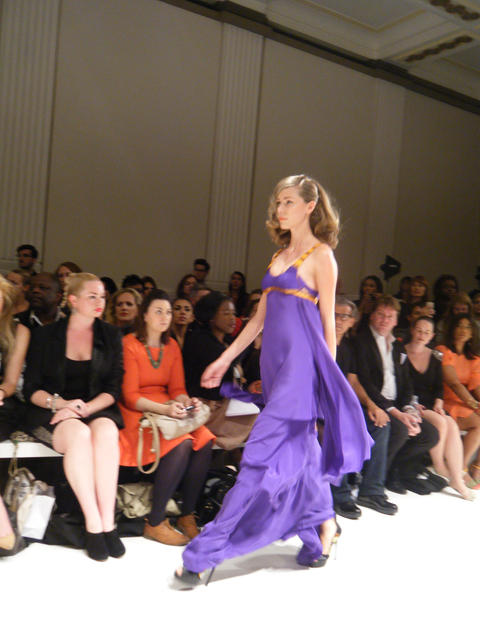 Carlotta Gherzi S/S 2012 purple dress