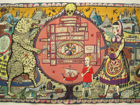 Frieze-Art-Fair-2011-review-Map of Truths and Beliefs by Grayson-Perry