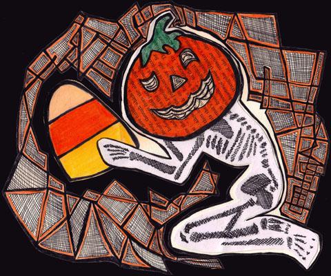Halloween Pumpkin by Jacqueline Valencia