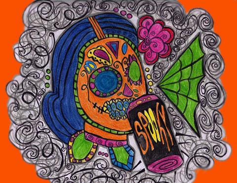 Sugar Skull by Jacqueline Valencia