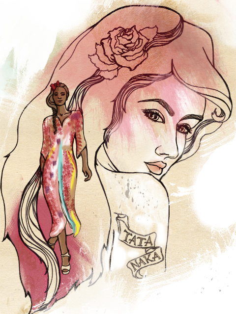Tata Naka Fashion Illustration By Vicky Newman