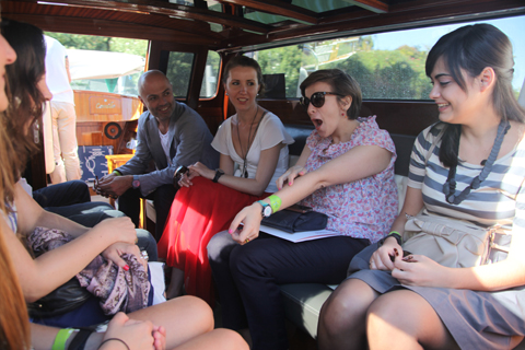 Venice Biennale 2011 Swatch review-speedboat