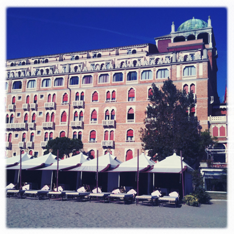 Venice Biennale 2011 Swatch review-Exterior of the Excelsior from the beach