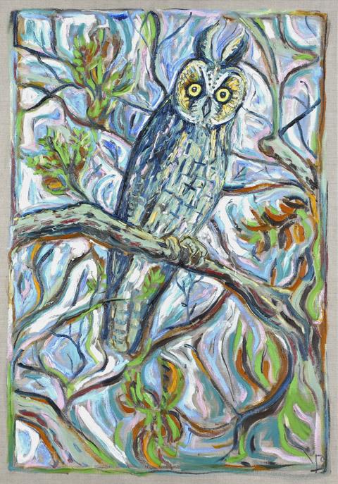 Reunion Owl by Billy Childish