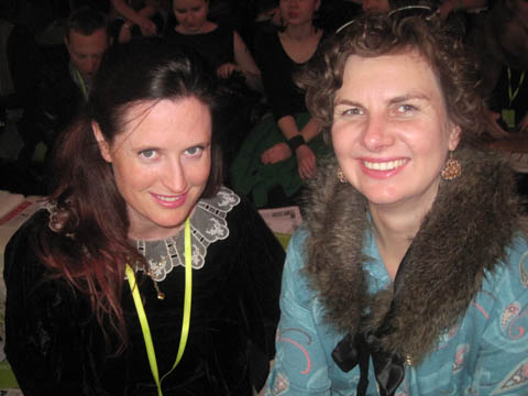 Fashion Week Poland people SS 2012 Amelia Gregory and Marlena Woolford