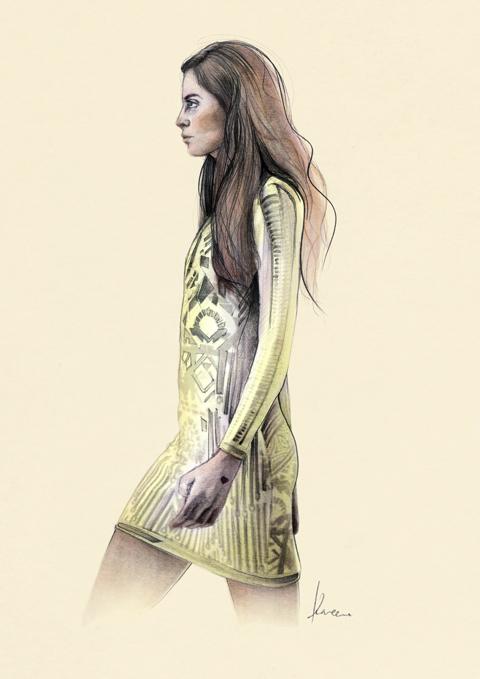 Lucja Wojtala  S/S 2012 by Kareena Zerefos