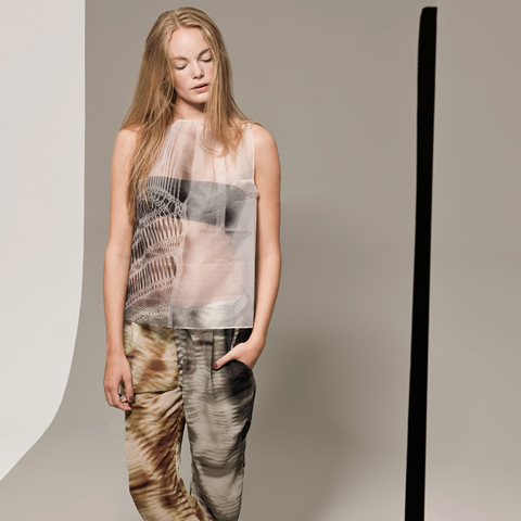 Prose SS 2012 x-ray_top_print_trousers