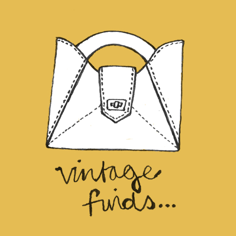 Vintage Bag Illustration by Harriet Alice Fox