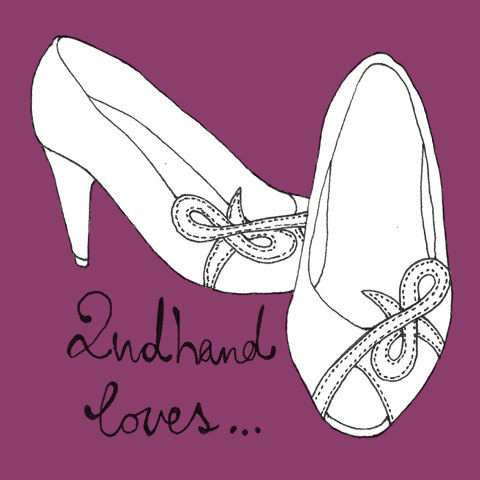 Vintage Shoe Illustration by Harriet Alice Fox