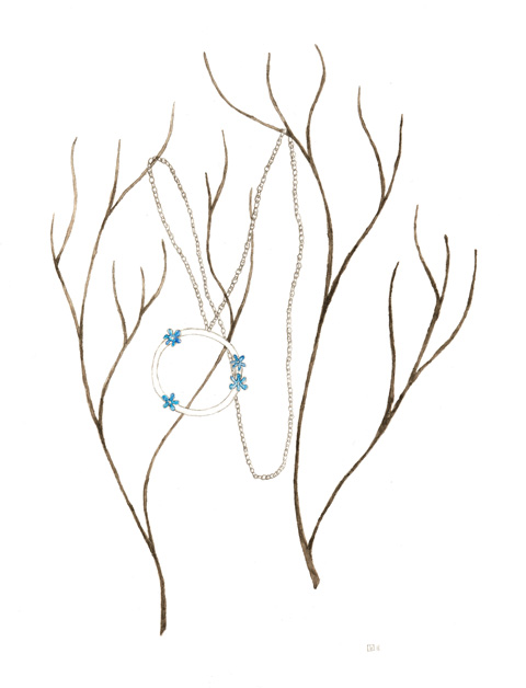 Sian Bostwick Forget Me Not Necklace by Tilly