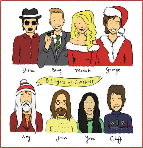 8 singers of christmas by Laura Millward