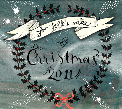 For Folk's Sake Christmas 2011. Cover illustration by Amber Cassidy