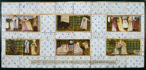 William Morris Story Memory Myth Beauty and the Beast tiles