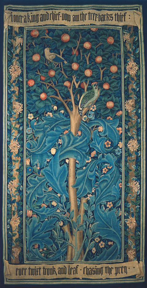 William Morris Story Memory Myth Woodpecker tapestry