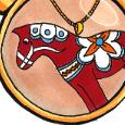 Rosie Wonders Dala Horse Necklace - Amelias Magazine - Janneke de Jong thb