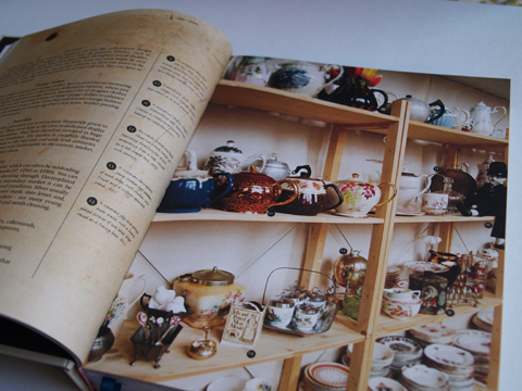 Vintage Tea Party shelves