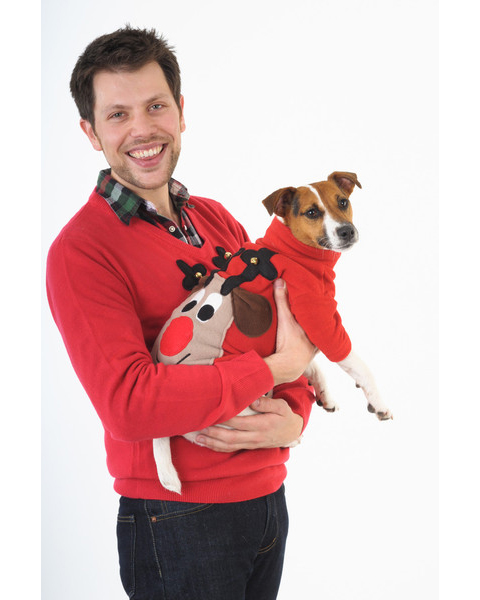 Woolly Babs Christmas dog jumper
