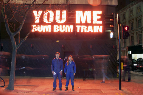 You Me Bum Bum train sign