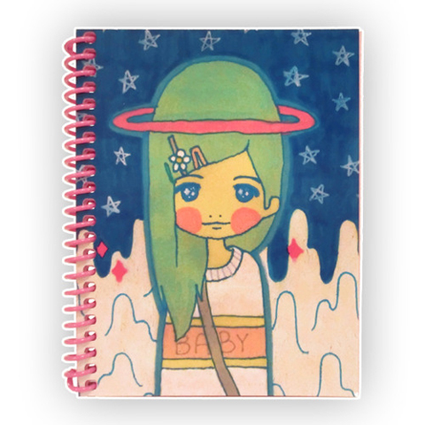Justin Wallis MILKBBI space girl notebook