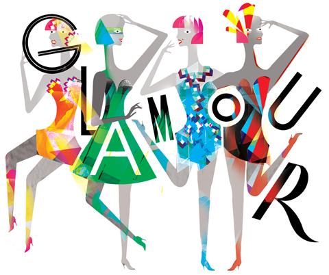 Lesley Barnes glamour mag print