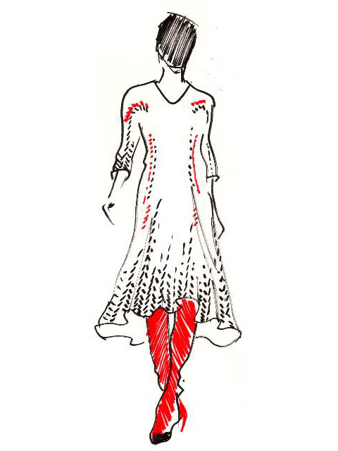 Alice Lee sketch dress