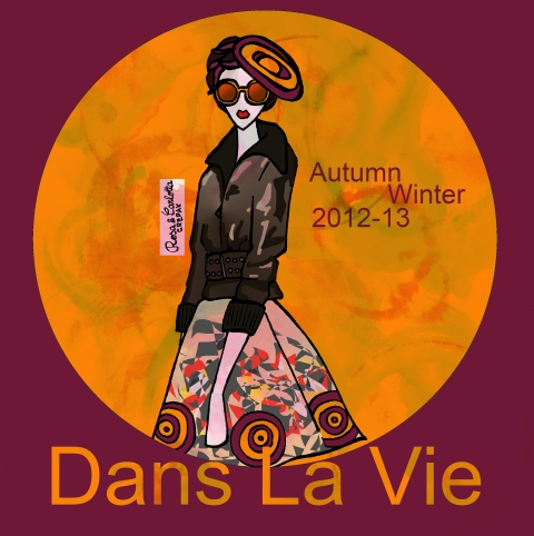 Dans La Vie AW 2012 by Rosa and Carlotta Crepax - Illustrated Moodboard