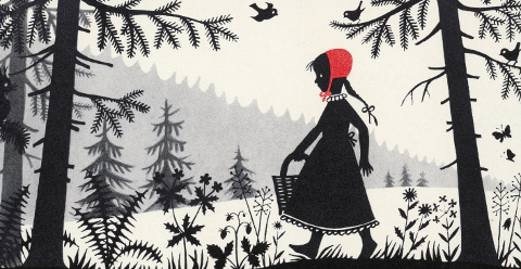 Little Red Riding Hood illustration by Divica Landrová 1959