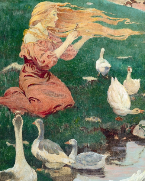 The Goose Girl painting by Jessie Willcox Smith 1911
