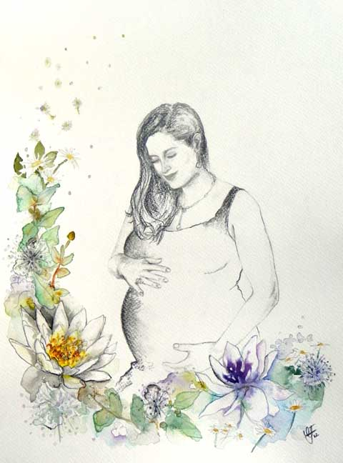 Amelias Baby by Claire Jones for Beautiful Moment Art