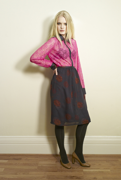 Beautiful Soul AW12 Michiko Shirt-British lace|Kin Skirt-Olivia Rose
